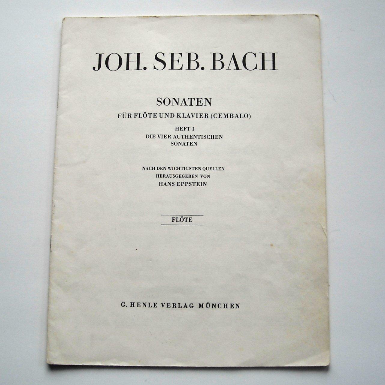 Johann Sebastian Bach Sonaten Flute 1978 Sheet Music Booklet