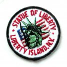 Vintage Statue Of Liberty New York Round Embroidered Patch