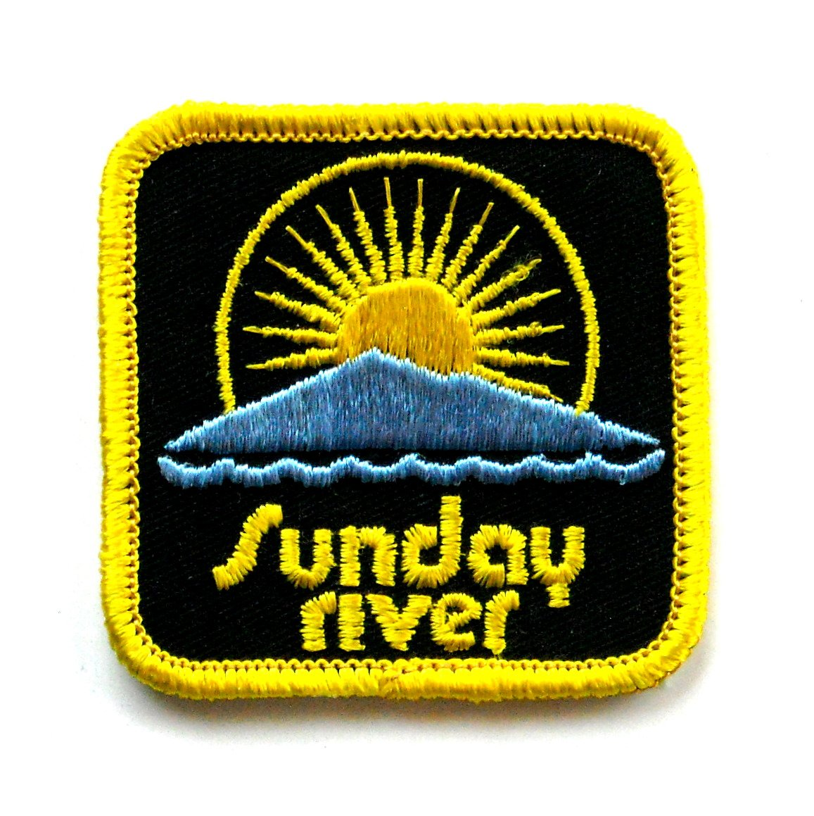 Vintage Sunday River Embroidered Souvenir Emblem Patch