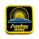 Vintage Sunday River Embroidered Souvenir Emblem Patch