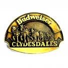 Budweiser Clydesdales Vintage First Edition ADM Brass Belt Buckle