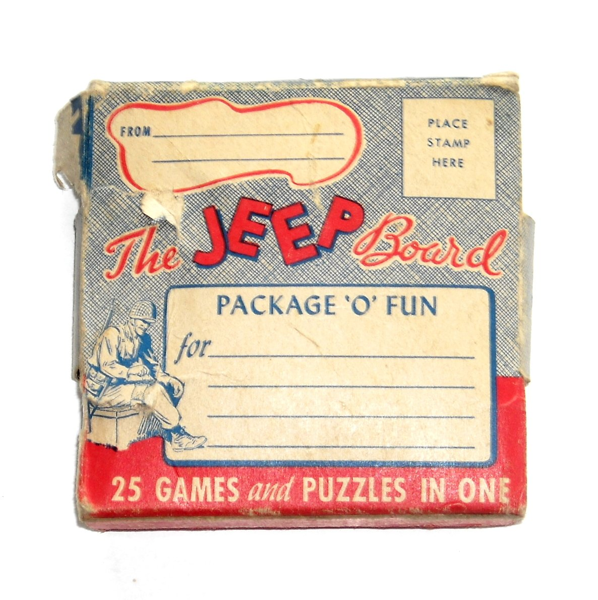 The JEEP Board Vintage 25 Games & Puzzles In One