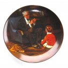 The Tycoon Norman Rockwell 1984 Heritage Collection Knowles Wall Plate Boxed