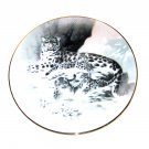 The Snow Leopard Rockwell China's Natural Treasures Knowles Wall Plate Boxed