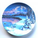 Twilight Reflections Mount Rainier Nature's Legacy W. S George Wall Plate Boxed