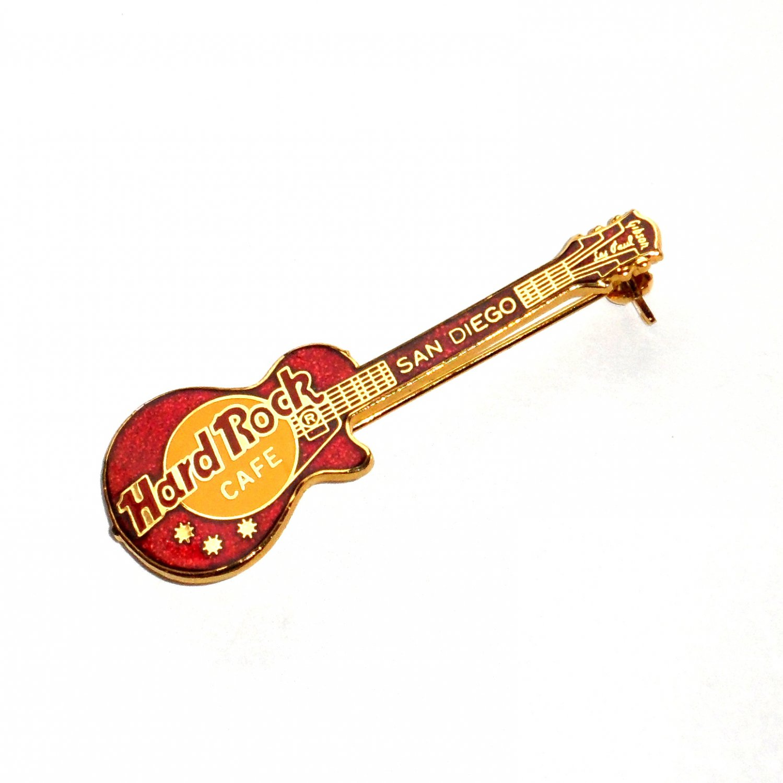 san diego hard rock cafe red guitar pin. Black Bedroom Furniture Sets. Home Design Ideas