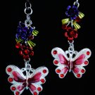 Butterfly Flowers Nature Ceiling Fan Light Pull Chain Set C-49