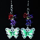 Butterfly Flower Nature Ceiling Fan Light Pull Chain Set D-27
