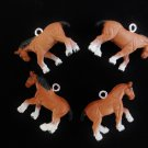 Custom Set of 4 Realistic Clydesdale Horse Mini Tree Ornaments