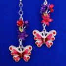 Butterfly Flower Nature Ceiling Fan Light Pull Chain Set S-58