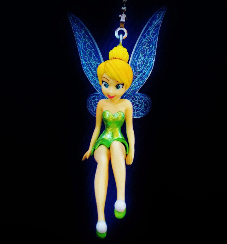 Custom disney tinkerbelltinker bell fairy ceiling fan light pull custom disney tinkerbelltinker bell fairy ceiling fan light pull chain s 44 aloadofball Images