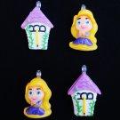 New Set of 4 Tangled Rapunzel Tower Mini Tree Ornaments