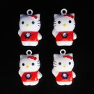 New Set of 4 Colorful Hello Kitty Bell Mini Tree Ornaments