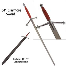 Claymore Sword - Silver & Wood Handle