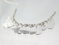 Danae Solid Charm Necklace