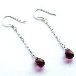 Taolei (Purple) Sterling silver earrings