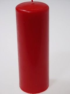 UNSCENTED COLUMN Candle (red)