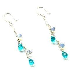 Taolei Sterling silver earrings (Turquoise, opal)