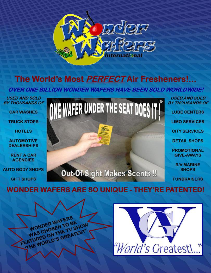 Wonder Wafers 25 Count Vanilla Frosting Air Fresheners Wrapped