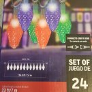 Color Motion SKU 1001-326-239       24 Bulb  LED Multi Color Christmas Light String