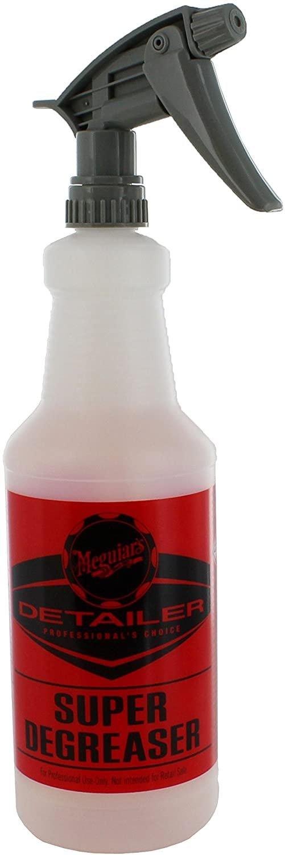 Meguiar's D20108 Super Degreaser Bottle, 32 oz Capacity w/ D110542 Grey Sprayer