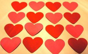 Scrapbook Die Cut Punchies Hearts Valentine