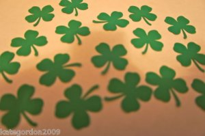 Punchies Shamrock Lucky St Patrick Irish Punchies Card Making Embellishment