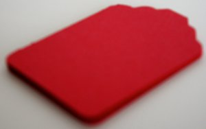 Die Cut Gift Journalling Hang Tags Paper Embellishment Red