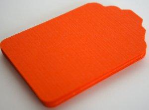 Die Cut Gift Journalling Hang Tags Paper Embellishment Orange