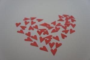 Tiny Hearts Die Cut Embellishment