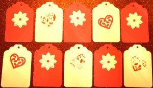 Valentine Heart Flower Gift Hang Tag Journaling Embellishment