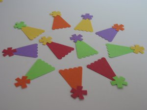 Party Hat Paper Punch Confetti Birthday Embellishments