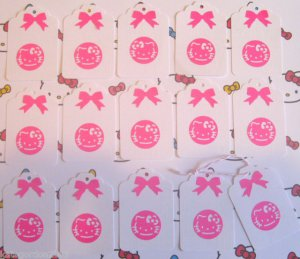 Journal Gift Tags Kitty Scrapbook Embellishment