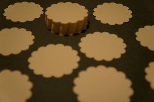 "Scalloped Circle 2"" Die Cut Gift Tags Journaling Set of 50"