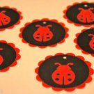 "Ladybug Scalloped 2"" Die Cut Gift Journaling Tags"