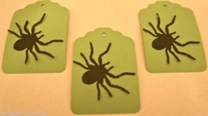 Halloween Gift Tags Spider Scrapbook Embellishment Tag Lot