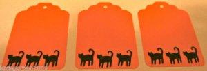 Halloween Gift Tags Black Cat Scrapbook Embellishment Tag Lot