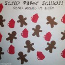Cocoa Gingerbread Man Paper Punch Punchies Party Scatter Confetti Embellish