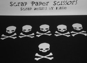 Skull Cross bones Paper Punch Punchies Party Scatter Confetti Embellishments