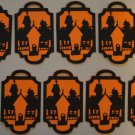 Halloween Gift Tags  Haunted House Scrapbook Embellishment Tag Lot