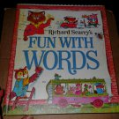 Vintage 1971 Richard Scarry's Fun With Words Hardcover Book Storybook Dictionary