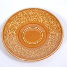 "Diamondstone Laveno 6 1/4"" Saucer Made in Italy Brown Dis Pattern Flowers"