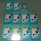 Set of 10 History Prime Time Library Books w/Audio Cassette (Sealed) Teacher