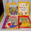 Lot of 4 Preschool Elementary School Math Reading Home School Resource Workbook
