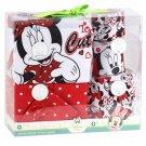 Disney Baby Girl Minnie Mouse 5 Piece Layette Set 0-6 Months Bodysuit Pants Bibs