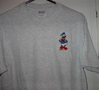 Donald Duck Custome embroider T shirt