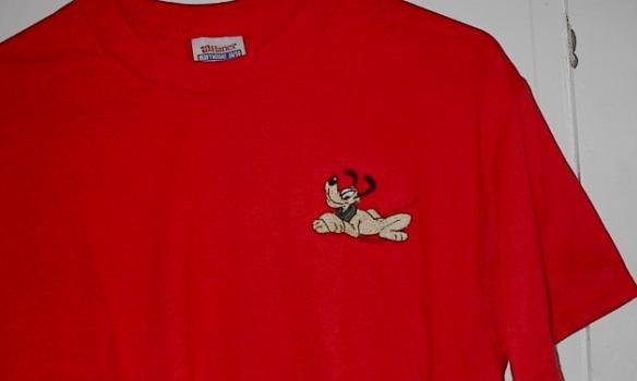 Custom EMbroidered Pluto T shirt