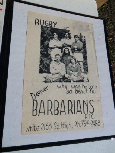 Vintage Rugby Poster Denver Barbarians ca. 1970