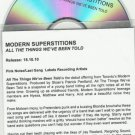 MODERN SUPERSTITIONS - All The Things We've Been Told -FULL PROMO- CD