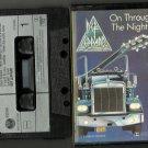 Def Leppard - On Through The Night Music CASSETTE 1980 Vertgo ORIGINAL/24HR POST